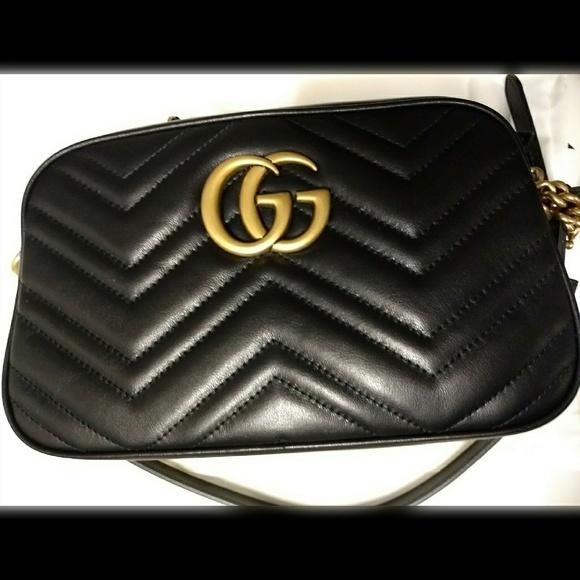 ab5fbdf01cef Gucci Bags | Marmont Small Crossbody Bag Black | Poshmark